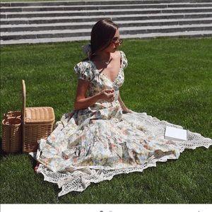 New Danielle Bernstein Poplin Floral Dress 2x